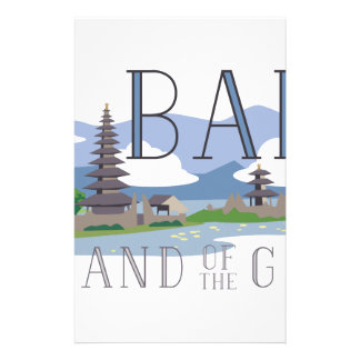 Bali Island Of Gods Stationery