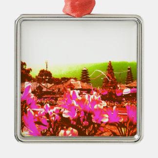 Bali Island Paradise Metal Ornament