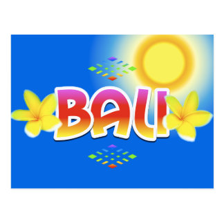 Bali Island Postcard