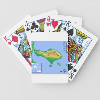 Bali Map Bicycle Playing Cards