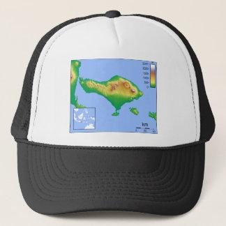 Bali Map Trucker Hat