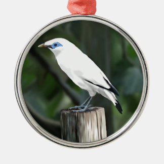 Bali Mynah Silver-Colored Round Decoration