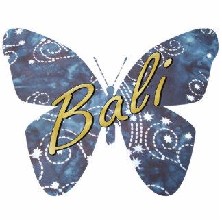 Bali Nights Batik Butterfly Keychain Photo Sculpture Key Ring