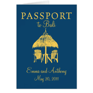 Bali Passport Wedding Invitation
