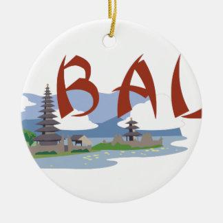 Bali Round Ceramic Decoration
