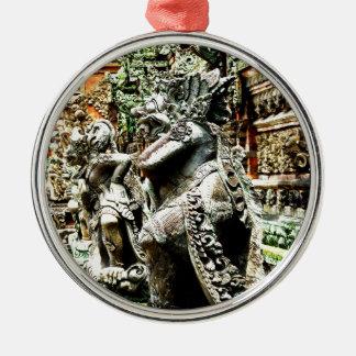 Bali Silver-Colored Round Decoration