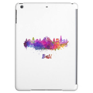 Bali skyline in watercolor