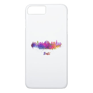 Bali skyline in watercolor iPhone 7 plus case