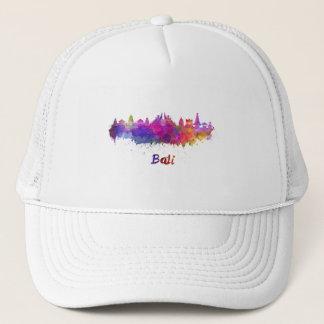 Bali skyline in watercolor trucker hat