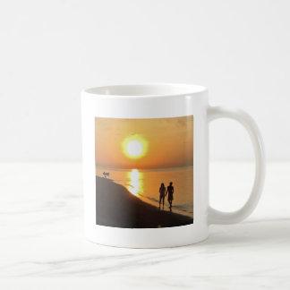 Bali sunrise on the beach coffee mug
