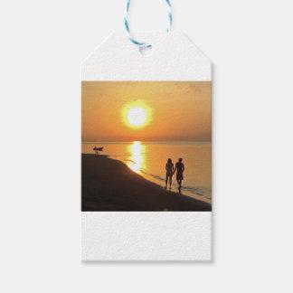 Bali sunrise on the beach gift tags