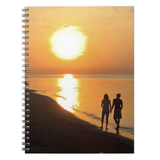 Bali sunrise on the beach notebook