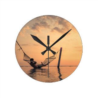 Bali Sunset Round Clock