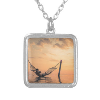Bali Sunset Silver Plated Necklace