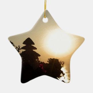 Bali temple ceramic star decoration