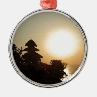 Bali temple Silver-Colored round decoration