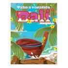 Bali Travel poster. Postcard
