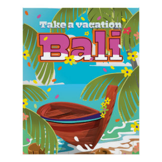 Bali Travel poster. Poster