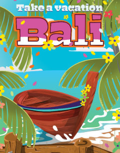 Bali Vintage Travel Posters Photo Prints Zazzle Au