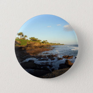 Bali tropical scenic coast at Tanah Lot 6 Cm Round Badge