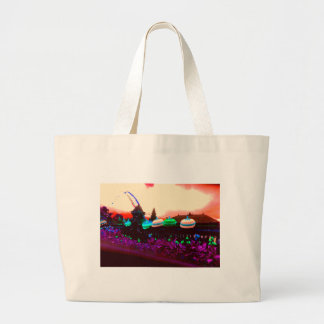 Bali Umbrella Colour Splash Large Tote Bag