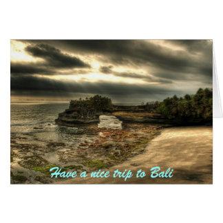 Bali vacation card