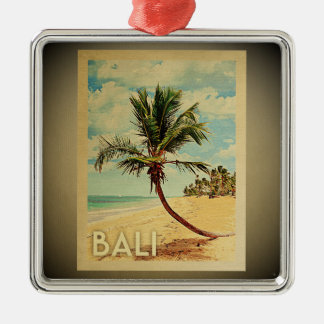 Bali Vintage Travel Ornament Palm Tree