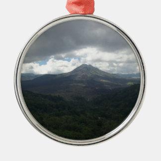 Bali Volcano Silver-Colored Round Decoration
