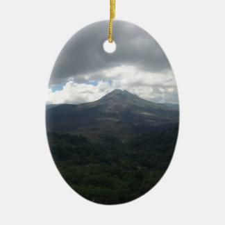 Bali Volcano Ceramic Oval Decoration
