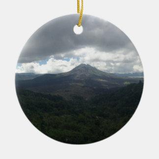 Bali Volcano Round Ceramic Decoration