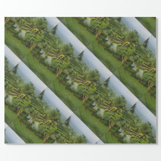 Bali - Young terrace ricefields and palms Wrapping Paper