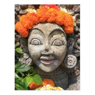 Balinese art postcard