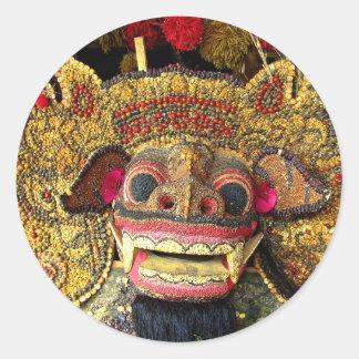 Balinese Barong 2 Classic Round Sticker