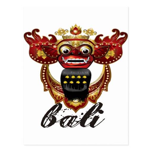 Balinese Barong Indonesia Souvenir Post Cards