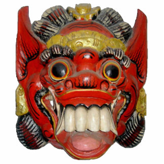 Balinese Ceremonial Mask 1 Ornament Photo Cut Outs