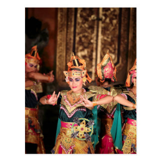 Balinese dance performance postcard