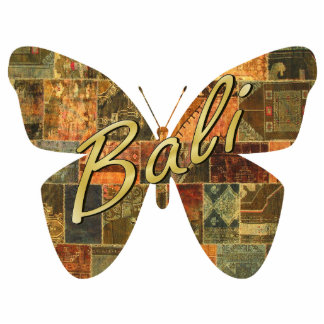 Balinese Patchwork Butterfly Magnet Photo Sculpture Magnet