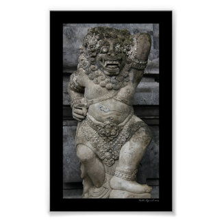 Balinese Statue Poster
