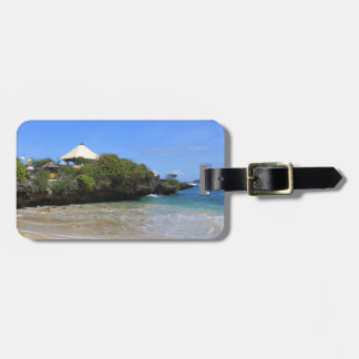 Balinese temple luggage tag