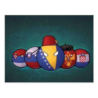 Balkan Countryballs Postcard