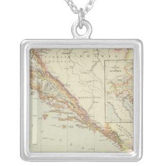 Balkan Peninsula, Croatia, Slovenia Silver Plated Necklace