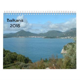 Balkans 2018 wall calendar