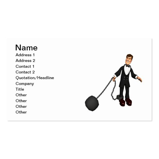 Ball And Chain 2 Business Card Template