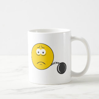 Ball and Chain Smiley Face Coffee Mug
