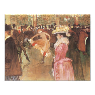 Ball at the Nightclub by Toulouse Lautrec 11 Cm X 14 Cm Invitation Card