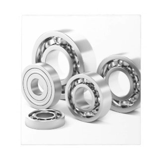 Ball bearings with different sizes notepad