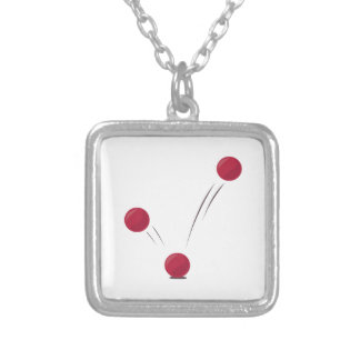 Ball Bounce Silver Plated Necklace