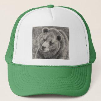 Ball Cap with Bear Design