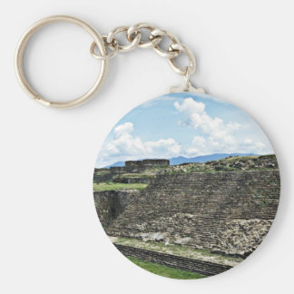 Ball Court From Archeological Zone Of Monte Alban Basic Round Button Key Ring