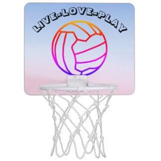 Ball Design Live Love Play Netball Mini Basketball Hoop